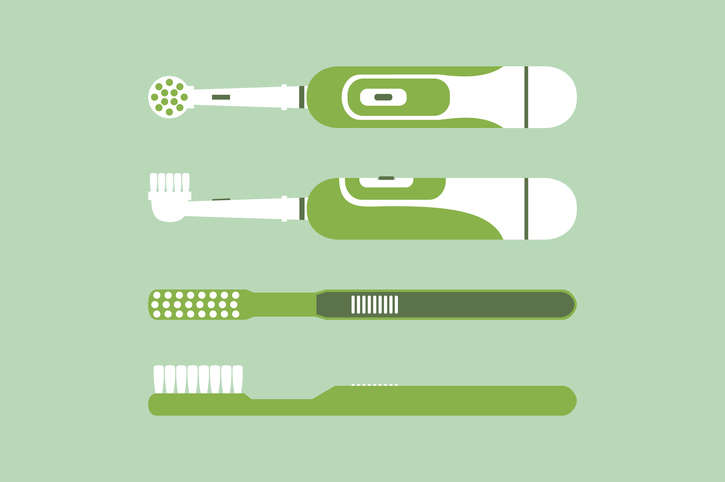 4 different types of toothbrushes