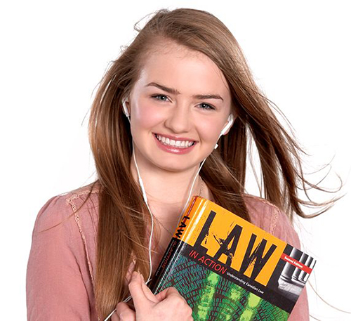 Girl with lawbook