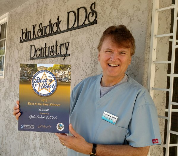 Dr. John Sudick was voted Best of the Best Dentist in Whittier and recognized by the Whittier Chamber of Commerce and the City of Whittier for his great dental care and contributions to his community